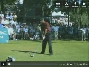 Tiger Woods à l'adresse
