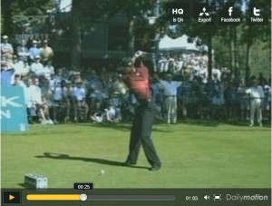 Fin du backswing