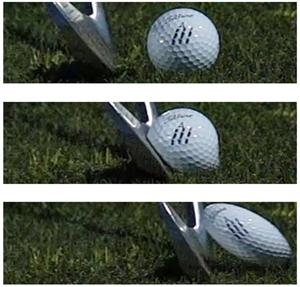 Comment une balle de golf se comprime
