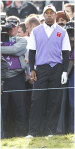 Tiger Woods énervé après son mauvais coup de la Ryder Cup