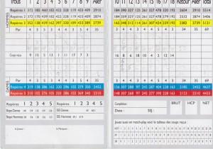 Carte de score Téoula Mars 2011