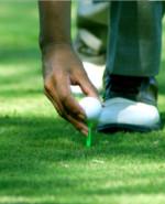 Le premier départ sur un parcours de golf