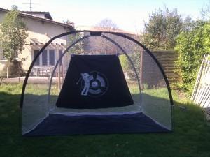 Le filet Links Choice est prêt pour un entraînement dans le jardin !
