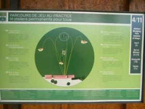 Atelier au practice du golf de l'Ariège